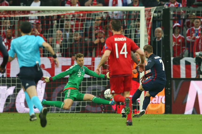 Antonie Griezamnn buscará marcarle otra vez el Bayern Munich