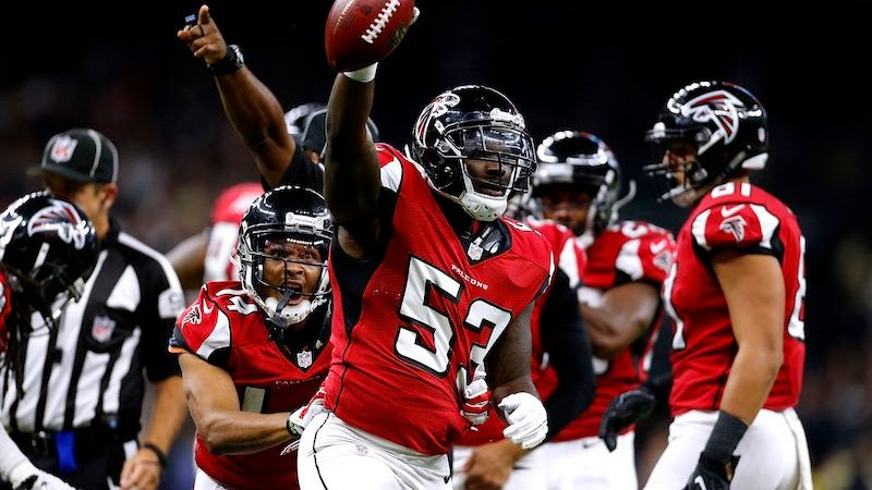 Atlanta Falcons versus New Orleans Saints