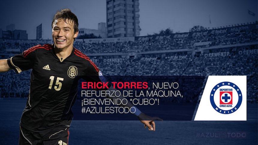 Erick 'Cubo' Torres, fichaje de Cruz Azul