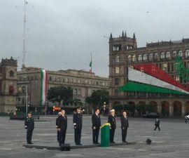 El secretario de Gobernación rindió homenaje a las víctimas del sismo del 85