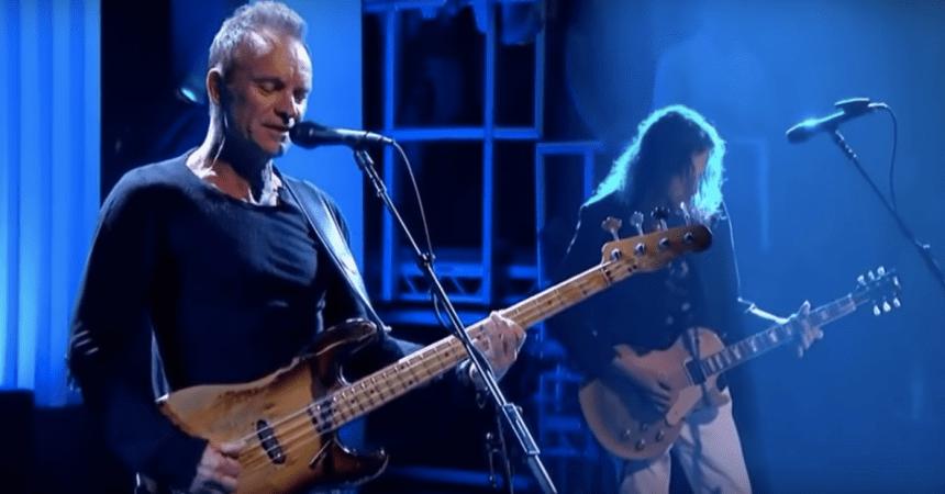 Sting estrenó su canción inspirada en las muertes de Prince y David Bowie.