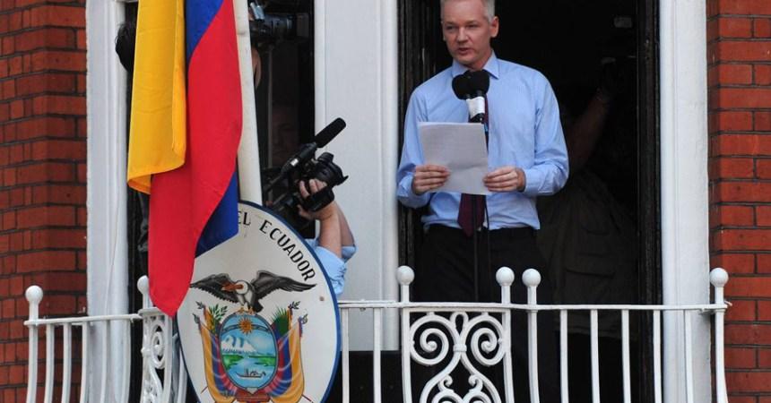 Discurso Julian Assange embajada de Ecuador en Londres