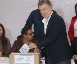 Juan Manuel Santos - Plebiscito - FARC.