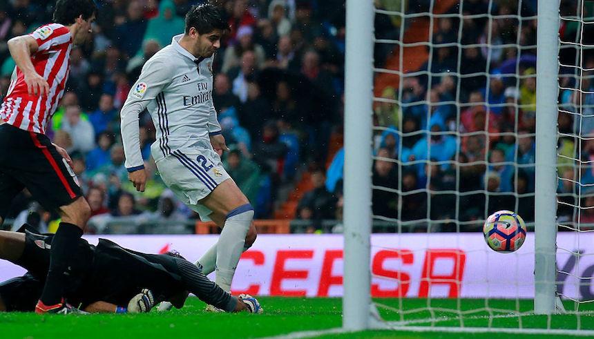 Álvaro Morata marcó el gol que le dio los tres puntos al Madrid