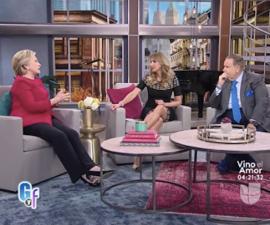 La candidata del Partido Demócrata, Hillary Clinton, bailó, compartió sus recetas y habló español con el Gordo y la Flaca