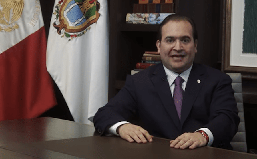Duarte salió de Veracruz en un helicóptero Coatzacoalcos... facilitado por el gobernador interino Flavino Ríos