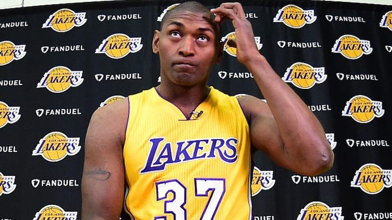 Metta World Peace con Lakers