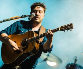 SAO PAULO, BRAZIL - MARCH 12:  Marcus Mumford of Mumford and Sons performs live on stage at Autodromo de Interlagos on March 12, 2016 in Sao Paulo, Brazil. (Photo by Mauricio Santana/Getty Images)