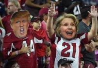 Clinton y Trump fans