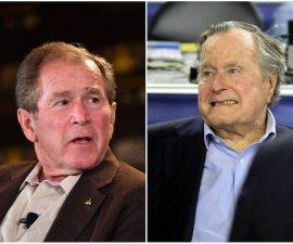 Los expresidente de Estados Unidos, George Bush Sr. y George W. Bush votarían por la candidata demócrata Hillary Clinton