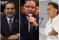Javier Duarte, Miguel Ángel Yunes Linares y Flavino Ríos: Veracruz tiene tres gobernadores y no se hace uno