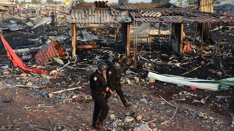 Explosion Mercado Tultepec