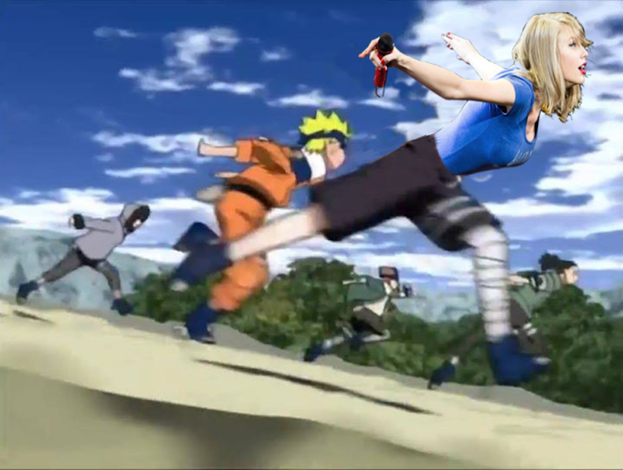 Taylor Swift y Naruto