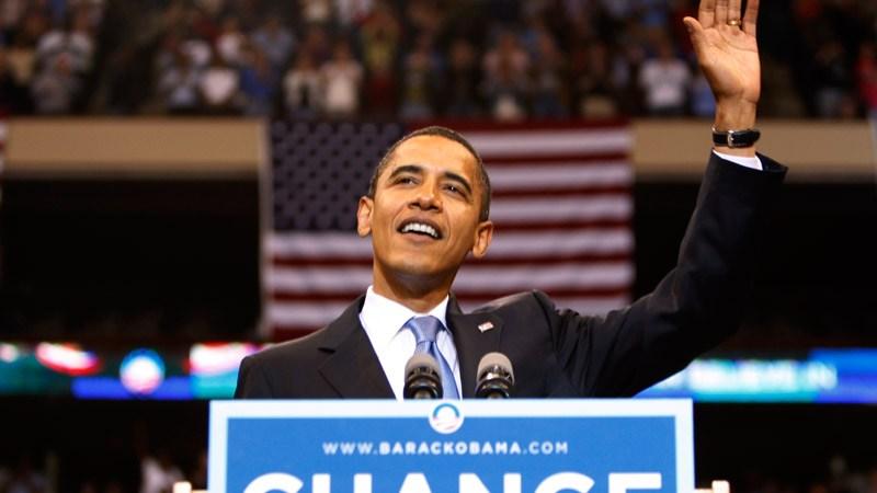 Barack Obama en su campaña presidencial en el 2008.  Foto: Getty Images