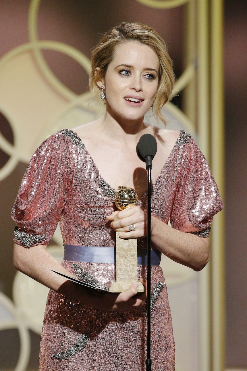 Claire Foy The Crown Golden Globes