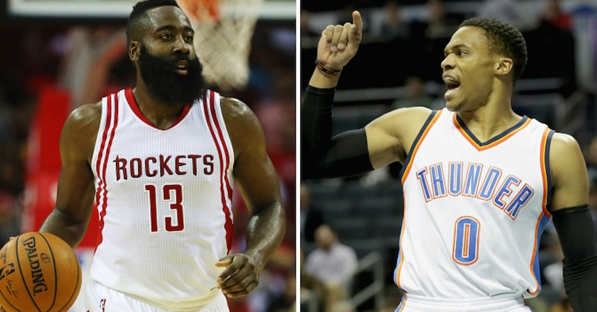 James Harden y Russell Westbrook