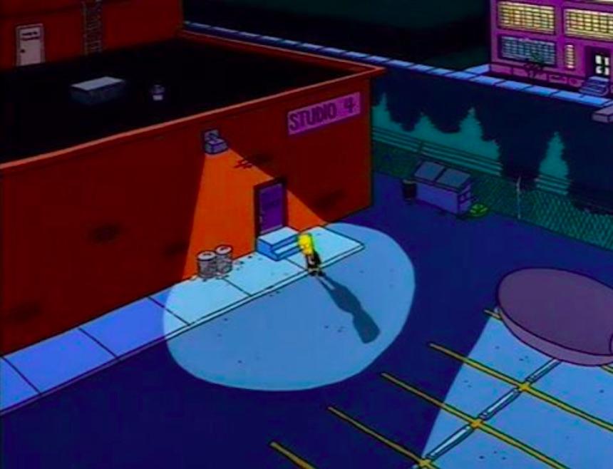 Los Simpson - Bar de noche
