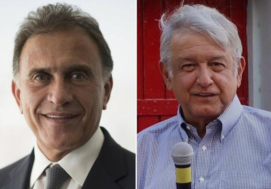 AMLO y Yunes Linares