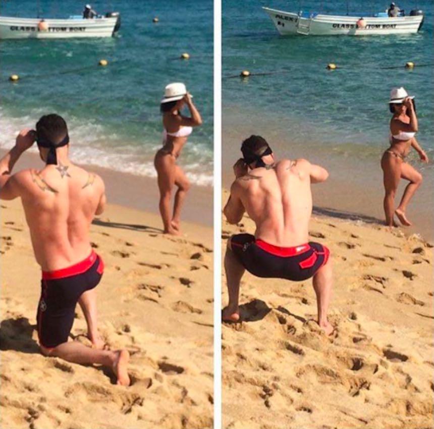 Novios de Instagram - Foto en la playa