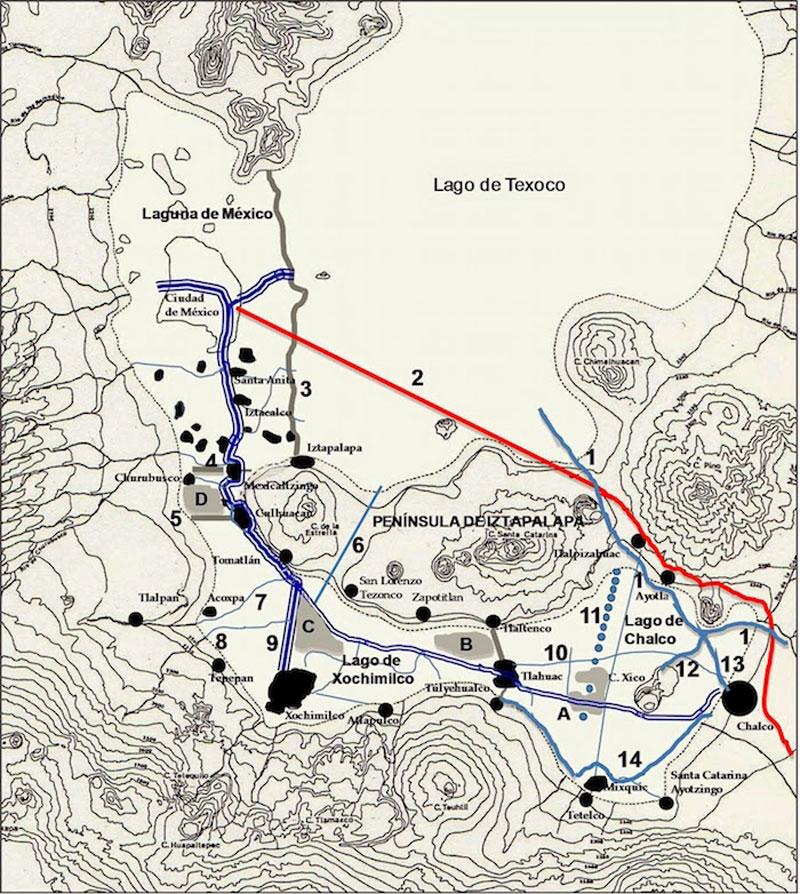 Mapa del Canal Nacional
