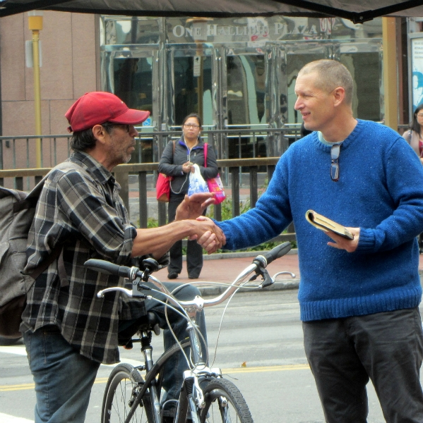 ANDY WITNESSES AT 5TH AND MARKET.
