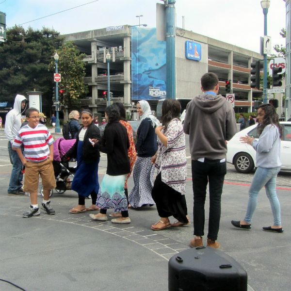 JACOB WITNESSES TO MUSLIMS AT WHARF.