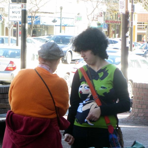 KATHY WITNESSES TO WOMAN IN BERKELEY.