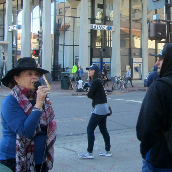 MARY PREACHES IN DOWNTOWN BERKELEY