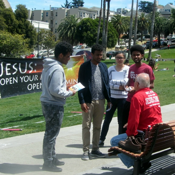 GARY WITNESSES AT DOLORES PARK.