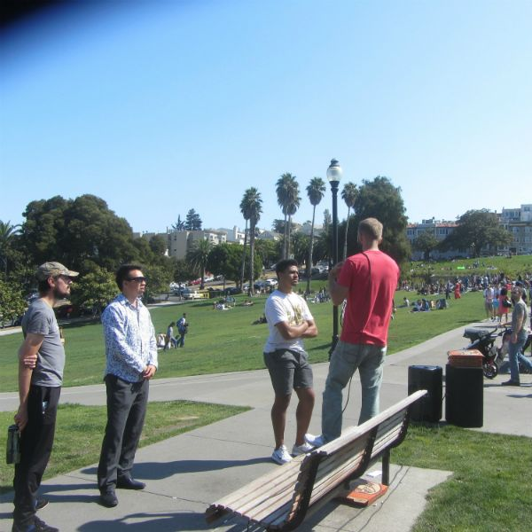 CAL PREACHES AT DOLORES PARK