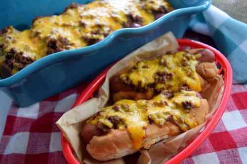 Medium Of Baked Hot Dogs