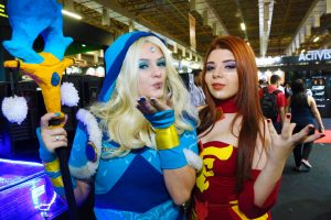 Cosplayers na Brasil Game Show
