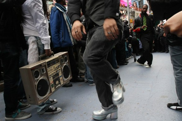 Soul Train Line in Times Square Flash Mob