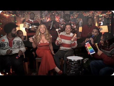 """Jimmy Fallon, Mariah Carey & The Roots: """"All I Want For Christmas"""" Performed with Childhood Instruments @questlove @jimmyfallon"""