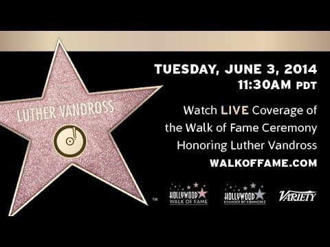 Luther Vandross Receives Star on Walk of Fame