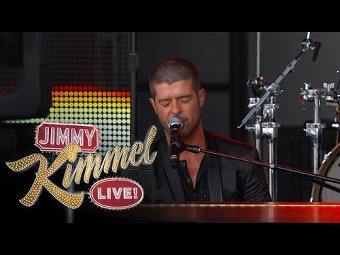 "Robin Thicke Performs ""Lock the Door"" on Jimmy Kimmel @robinthicke"