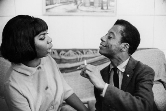 James Baldwin with Nina Simone, early 1960s