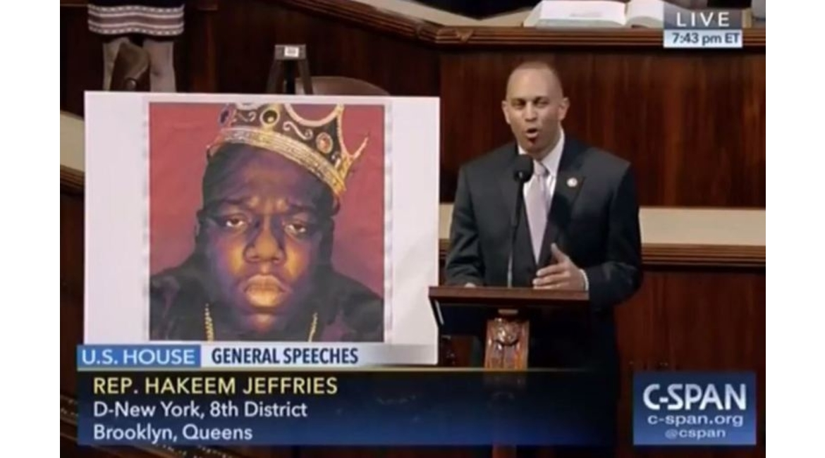 Congressman Hakeem Jeffries Pays Tribute to Biggie Smalls