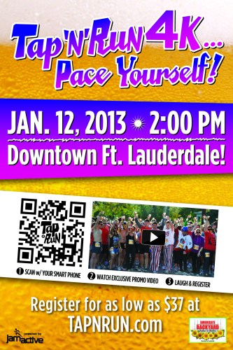 2012 Tap N Run Ft Lauderdale Handbill