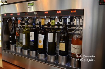 Self service wine bar.