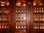 Wall of Mount Gay Black Barrel in Rum Bar