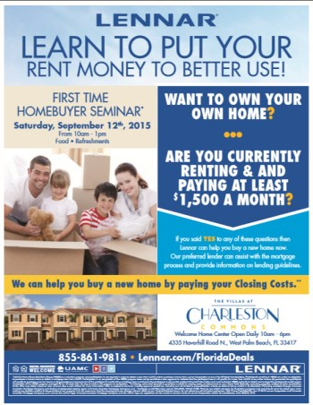 Lennar Hosts First Time Homebuyer Seminar At Charleston