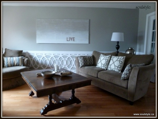 living room wainscot soulstyle. Black Bedroom Furniture Sets. Home Design Ideas