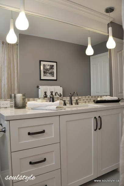 Bathroom pendant lighting