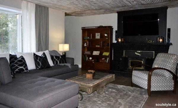 Masculine Rustic Vintage Living Room