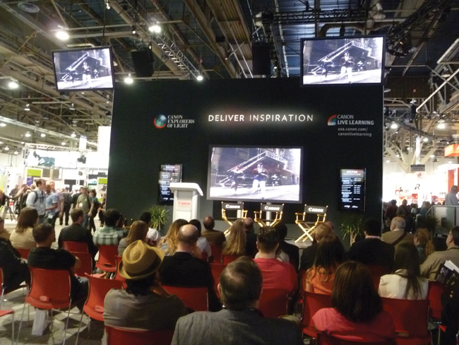 Learning sessions at exhibitor booths had standing room only.