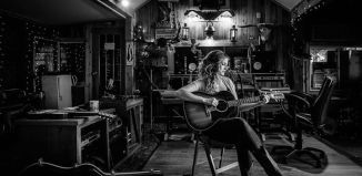 Kelly Prescott in studio, photo courtesy of Sean Sisk