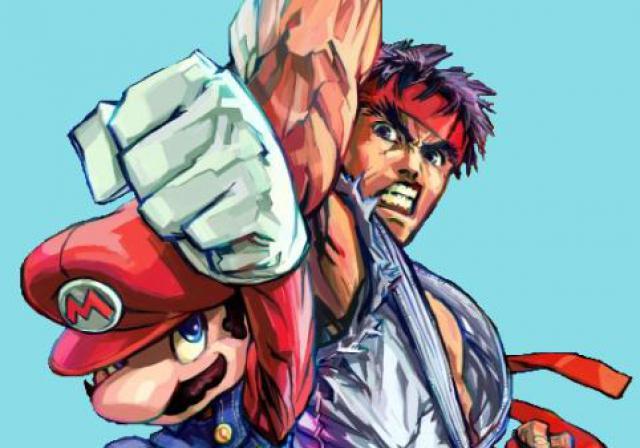 mario-vs-ryu-dans-super-smash-bros