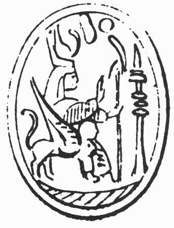 Drawing of Phoenician scarab