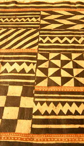 Kapa (painted barkcloth) from Hawaii